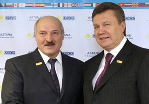 Янукович пожелал Лукашенко победы на выборах