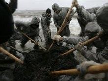 На побережье Черного моря собрали 30 тонн песка с нефтепродуктами