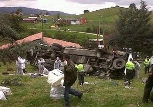 В Колумбии столкнулись автобус, маршрутка и легковой автомобиль: 16 погибших