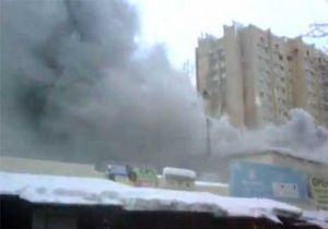 Пожар Киев - Пожар на рынке Караваевы дачи не могли потушить более часа