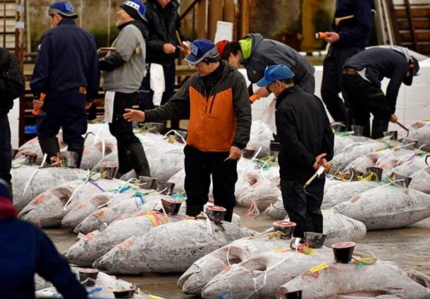 На рынке Цукидзи в Японии             EPA  UPG