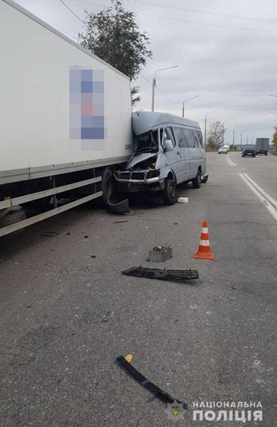 Смертельное ДТП в Запорожье: маршрутка протаранила фуру