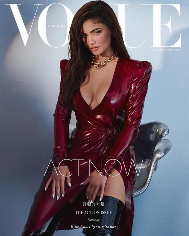 Кайли Дженнер в латексе снялась для Vogue