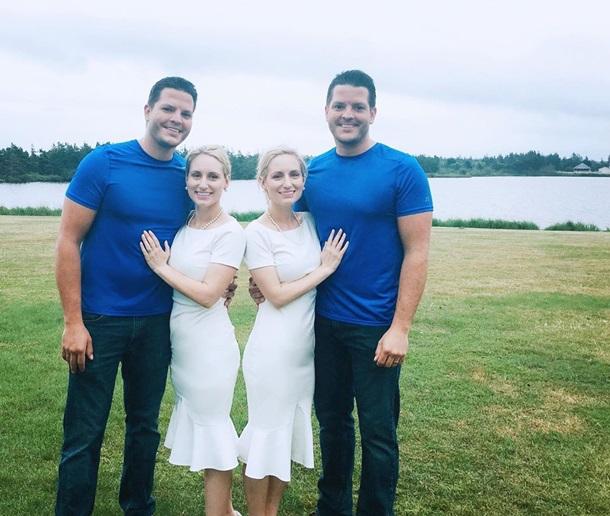 Сестры-близнецы вышли замуж за близнецов и одновременно забеременели