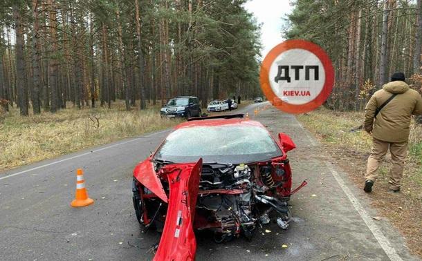На съемках в Киевской области разбился Lamborghini