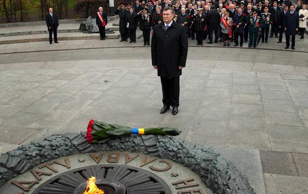 Память павших освободителей Киева почтили зажжением Вечного огня