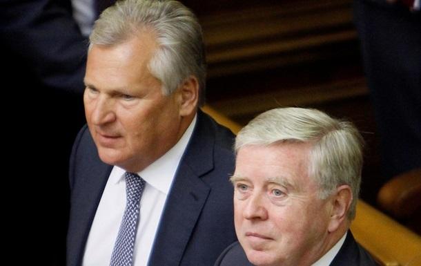 Кокс и Квасьневский два часа общались с Тимошенко
