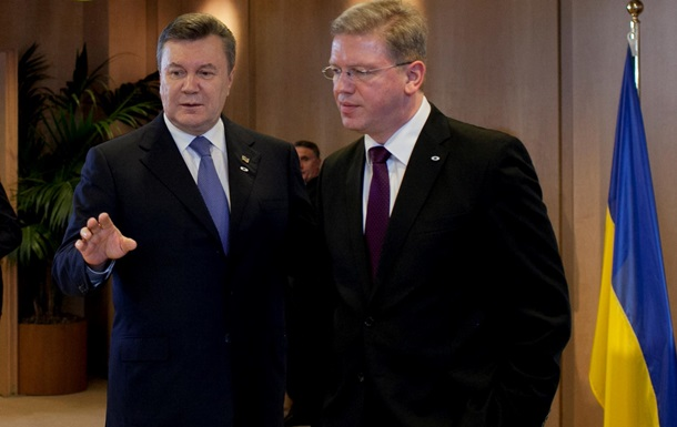 Янукович встретился с ответственным за отношения с Украиной еврокомиссаром: подробности неизвестны