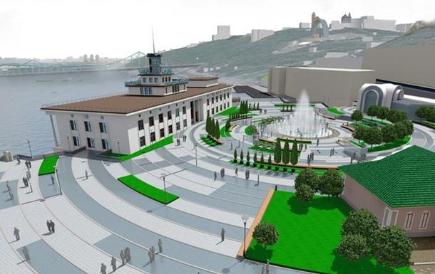 Разработан окончательный вариант реконструкции Подола со схемой пешеходной зоны