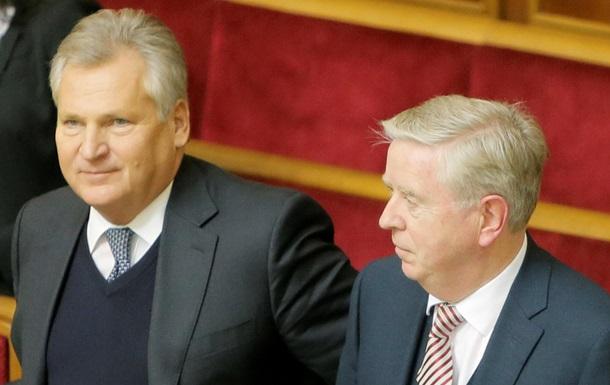 Кокс - Квасьневский - разочарование - Соглашение об ассоциации - Кокс и Квасьневский разочарованы решением Украины отложить подписание СА