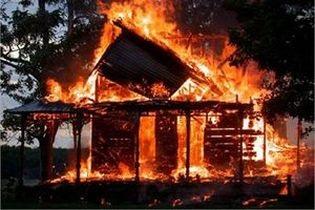 Сильный пожар в Иркутской области