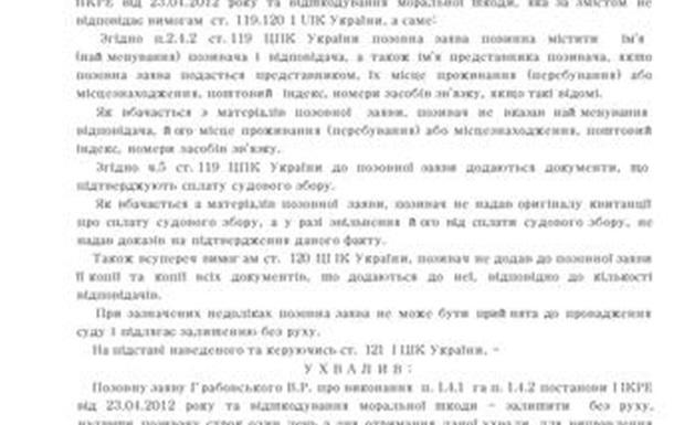ВІДПОВІДЬ СУДДІ СКУЛИК І.А. ,ПЕРШОТРАВНЕВИЙ районний СУД м. Чернівці