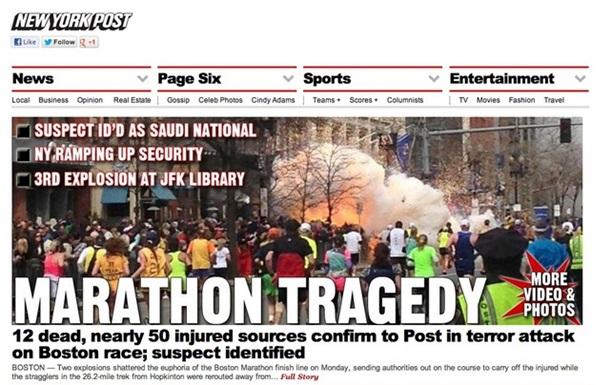 Бостонский теракт - скандалы, интриги и Гугл в помощь