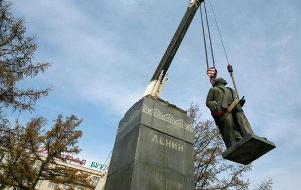 Остання статуя Володимира Ілліча Леніна в Монголії в минулу неділю була знята