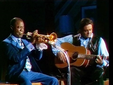 Johnny Cash и Louis Armstrong