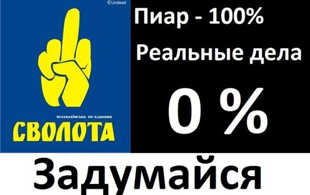 ВО Свобода - 100% пиара и 0 % реальных дел!!!!!!!