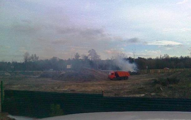 Варвары уничтожают Быковнянский лес