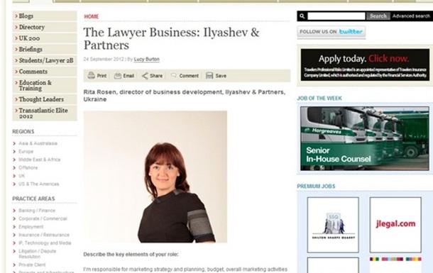 The Lawyer Business: Ilyashev & Partners