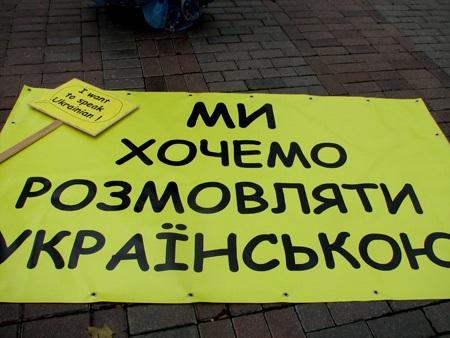 Протест  щодо прийняття закону «Про засади державної мовної політики»
