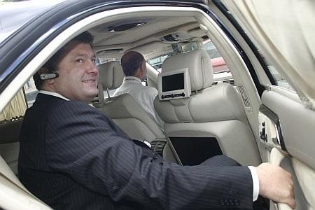 У Петра Порошенко - шесть автомобилей