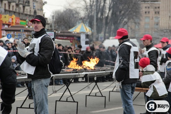 Шашлык-рекордсмен в центре Киева