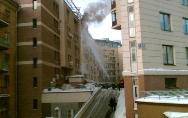 Пожар в Киеве на Саксаганского, 120 (Шевченка, 33Б)