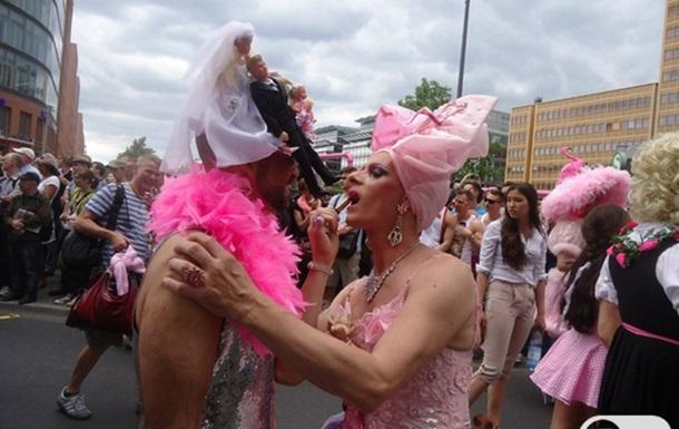Гей-парад Christofer Street Day в Берлине