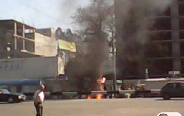 Пожар возле метро Житомирская