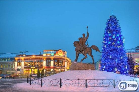 Киевский Подол вечером