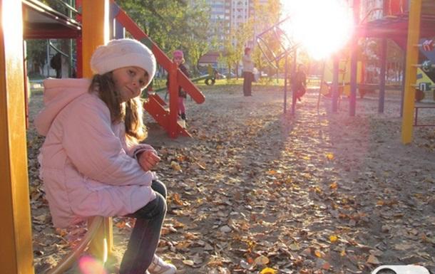 Осенний закат на Троещине