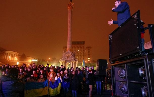Как Кличко, Яценюк, Тягнибок и другие нардепы протестовали на Евромайдане