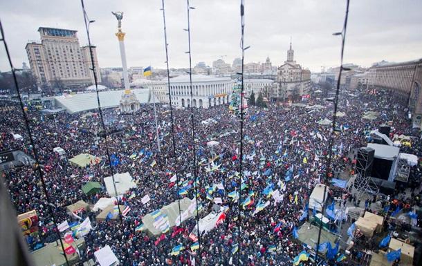 Милиция считает, что в воскресенье на Майдане собралось не больше 100 тысяч человек