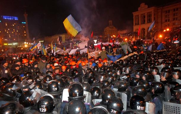 Штурм Евромайдана - фото - Беркут - милиция - Евромайдан