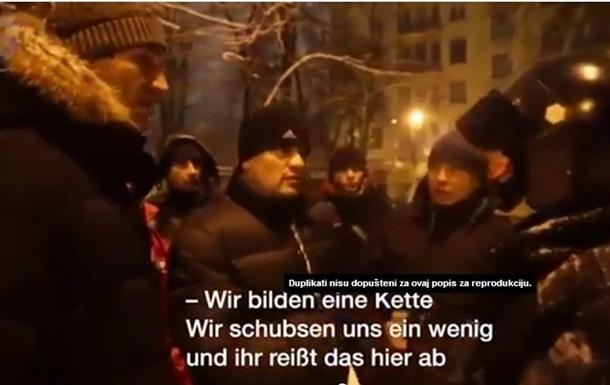 Потолкаемся. Так надо : немецкие журналисты засняли разговор ударовца и Владимира Кличко с Беркутом