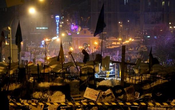 На Майдане Независимости все спокойно