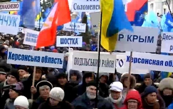В Киеве на Европейской площади проходит митинг Партии регионов