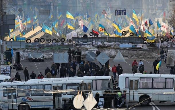 Обстановка в центре Киева спокойная.