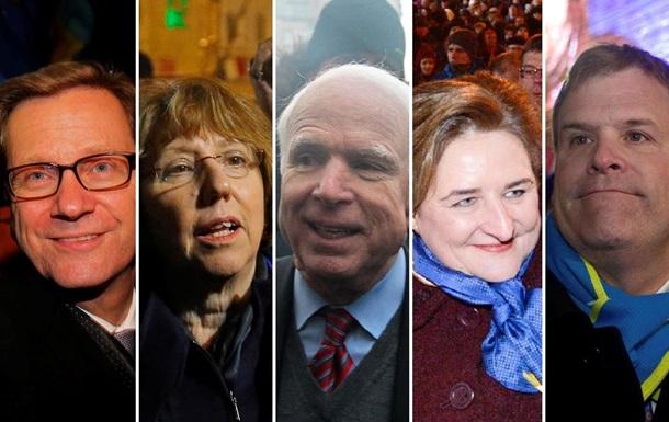 На Майдан посмотреть и себя показать. Фотоподборка западных политиков на митингах в Киеве
