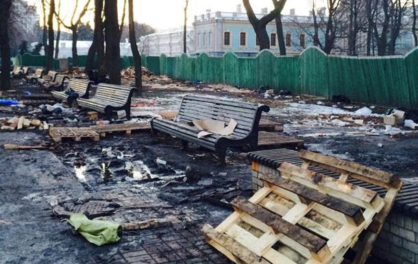 КГГА требует от организаторов Антимайдана оплатить восстановление Мариинского парка