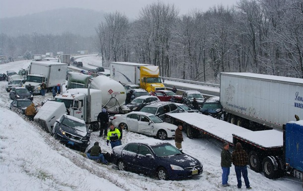В штате Пенсильвания второй раз за месяц столкнулись десятки машин