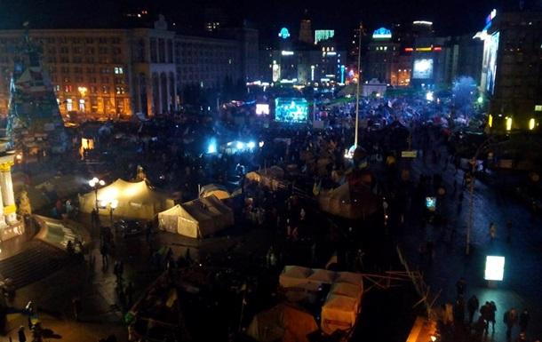 На Майдане Незалежности выключили свет