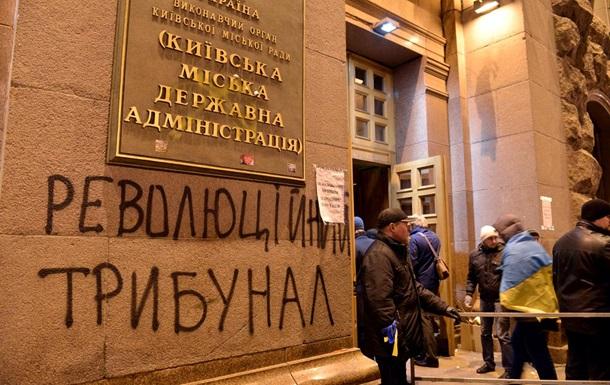 Слезоточивым газом в сотрудников КГГА брызнул киевлянин, состоящий на психиатрическом учете - МВД