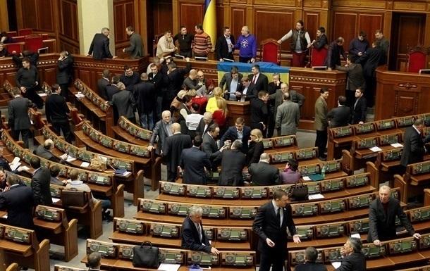Парламент Украины досрочно ушел на зимние каникулы