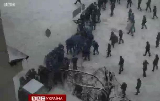 Видео атаки Беркута на Грушевского с применением огнестрельного оружия - ВВС