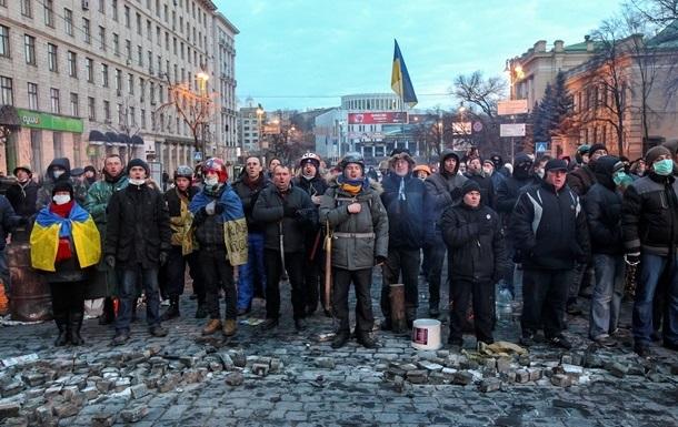 На Майдане погибших почтили минутой молчания