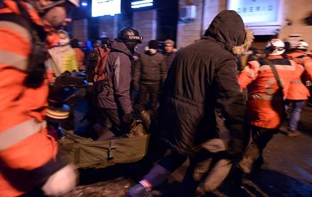 Тимошенко оплакивает жертв столкновений в центре Киева
