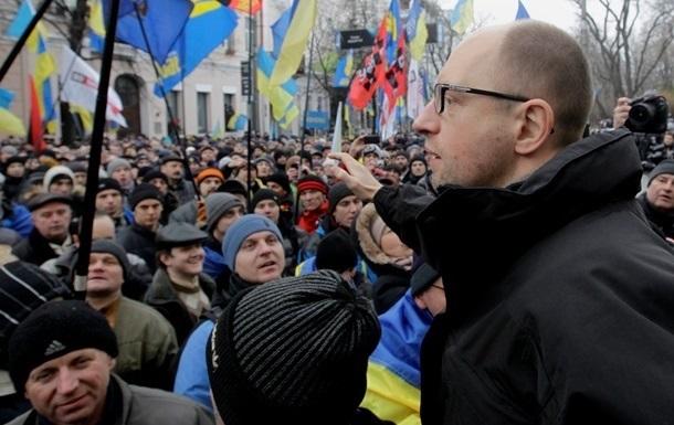 Президент должен в течение 24 часов ответить на требования протестующих - Яценюк