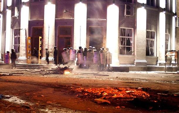 Во время беспорядков около Черкасской ОГА пострадали милиционеры