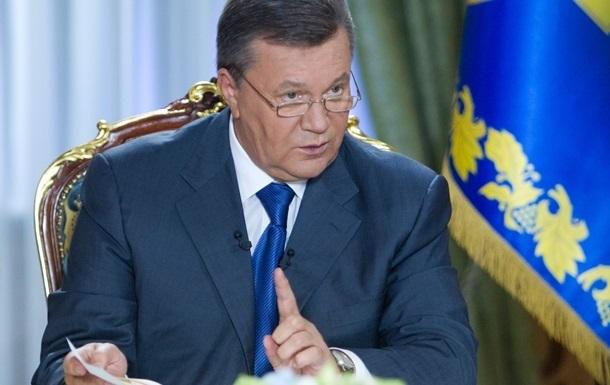 Янукович обещает сделать все, чтобы остановить насилие и вернуть стране стабильность