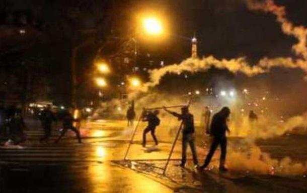 В Париже полиция разогнала антипрезидентский митинг, арестовав полторы сотни участников столкновений